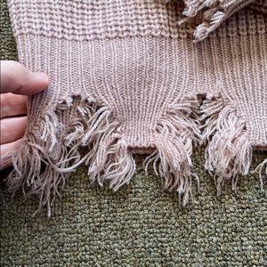 Zaful Sweaters - Destructed boxy pink sweater — NWT !